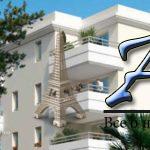Апартаменты сбалконом, вэлитном жилом комплексе ссадом, бассейном ипарковкой, недалеко отморя, Жуан-ле-Пен, Антиб, Франция